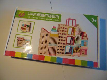 Kép Építhető fa lapok (150 db)
